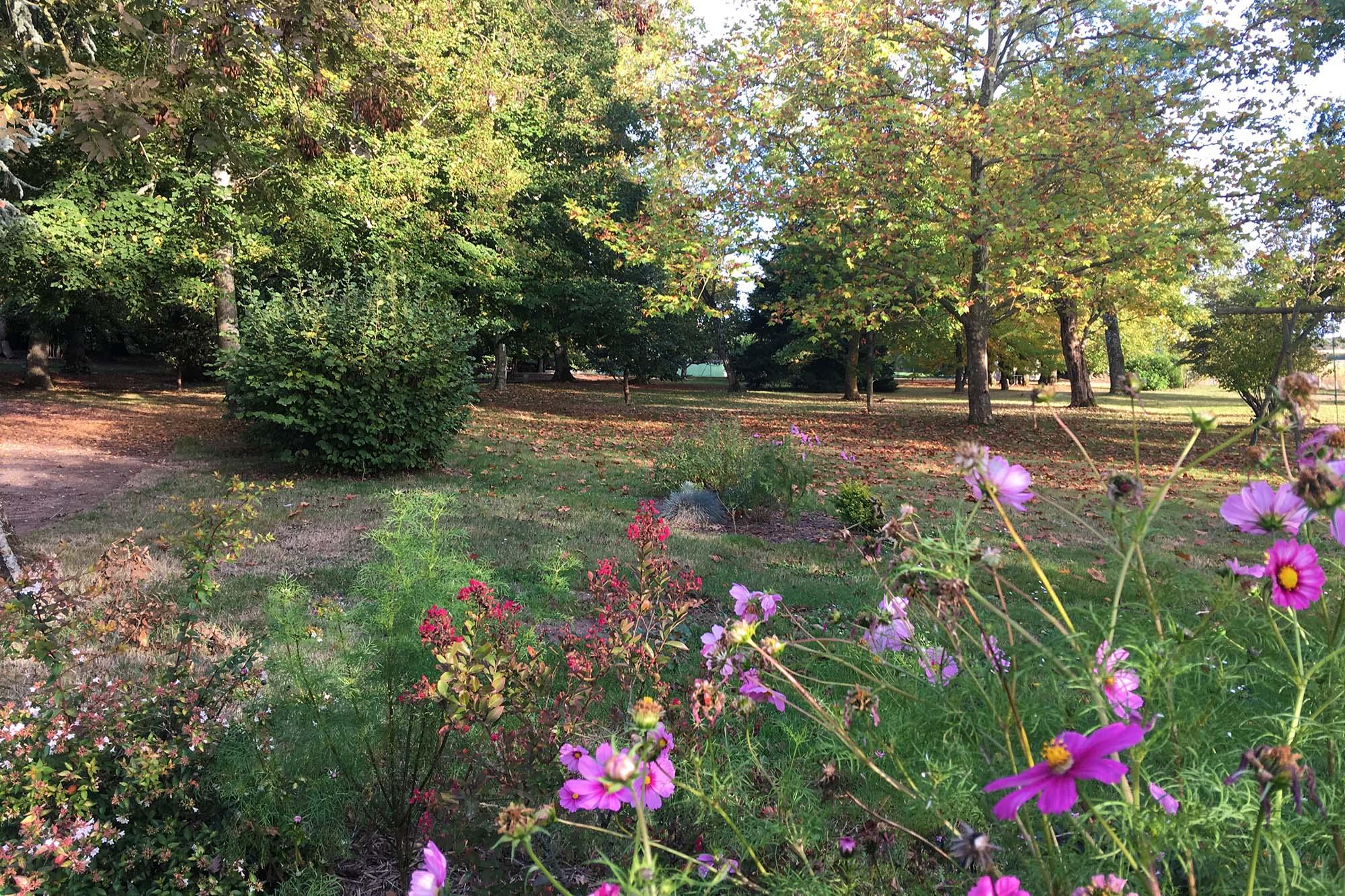 Le parc pour une cérémonie laïque