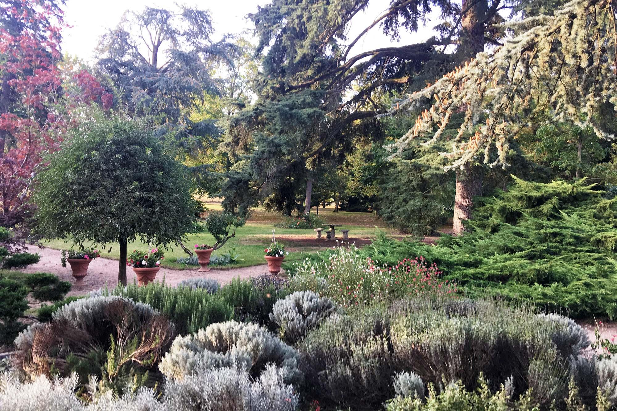 Le parc, vue de l'entrée